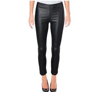 Aqua faux leather legging ankle pant black nwt